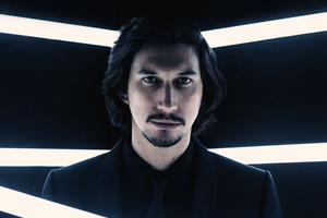 Adam Driver As Kylo Ren In British Vogue 2017 Wallpaper