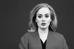 Adele Monochrome Wallpaper