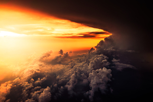 Aerial Cloud Horizon Sunset