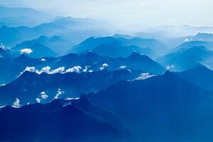 Aerial Photography Of Mountains Wallpaper