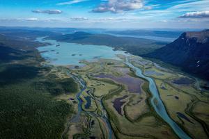 Aerial View Green Mountains 8k Wallpaper