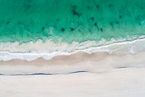 Aerial View Of Beach Clear Ocaen Sand 5k