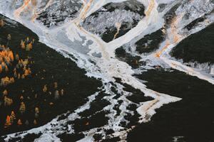 Aerial View Of Frozen Winter Landscape 5k Wallpaper