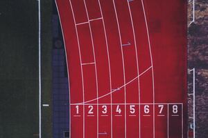 Aerial View Of Racing Track Numbers Wallpaper