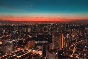 Aerial View Skyline Of Singapore 5k