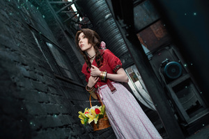 Aerith Gainsborough Final Fantasy Cosplay 4k Wallpaper