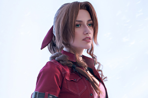 Aerith Gainsborough Final Fantasy XV Cosplay 4k