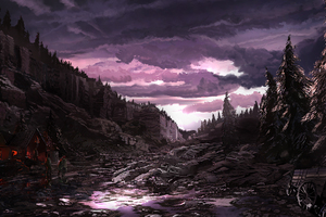 After Rain Digital Art 4k