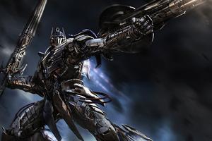 Age Of Extinction Optimus Prime Knight 4k Wallpaper