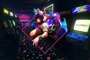 Ahri League Of Legends Arcades In The 90s