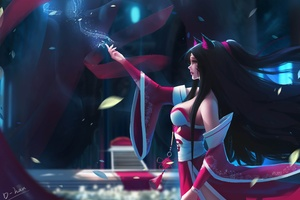 Ahri League Of Legends Fan Art 4k