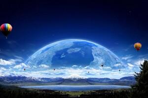 Air Ballon Planet Wallpaper