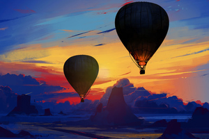 Air Balloon Floating