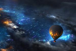 Air Balloon Journey 4k Wallpaper