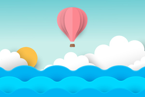 Air Balloon Minimal 8k