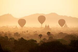 Air Balloons Desert 4k