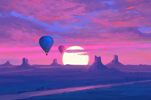 Air Balloons Minimal Morning 4k Wallpaper