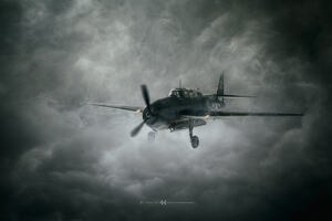 Aircraft Dark Clouds