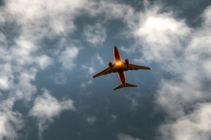Airplane Sky Cloud Flight 5k Wallpaper