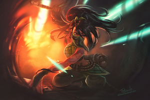 Akali League Of Legends Art