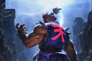 Akuma Street Fighter Game 4k Wallpaper