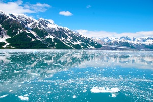 Alaska Glacier Ice Mountains Wallpaper
