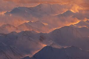 Alaska Mountains Range Morning