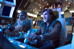 Alden Ehrenreich And Chewbacca In Solo A Star Wars Story