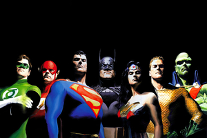 Alex Ross Justice League Artwork Wallpaper