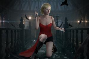 Alice Resident Evil Digital Art 4k