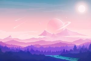 Alien Moon Nature 4k Wallpaper