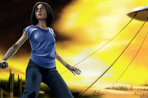 Alita Battle Angel Art 4k
