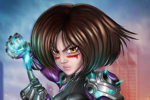 Alita Battle Angel Fanart 5k Wallpaper