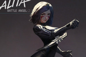 Alita Battle Angel Fanartwork 4k