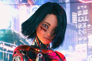 Alita Battle Angel Render Art