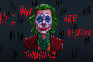 All I Have Negative Thoughts Joker Wallpaper