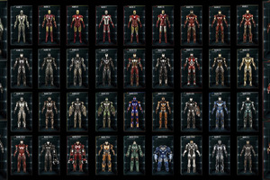All Iron Man Suits Wallpaper