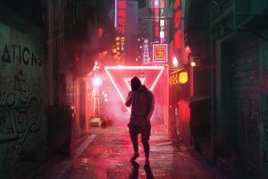 Alley Boy Cyberpunk 5k Wallpaper
