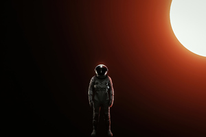 Alone Astronaut 4k Wallpaper