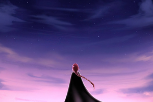 Alone Girl Looking At The Sky 5k Wallpaper