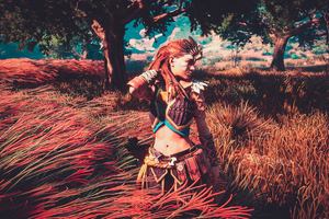 Aloy Horizon Zero Dawn 4k Beautiful Flower Wallpaper