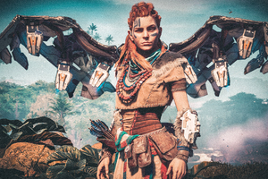 Aloy Horizon Zero Dawn Bird 4k