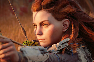 Aloy Horizon Zero Dawn Game Art Wallpaper