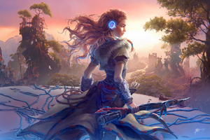 Aloy Horizon Zero Dawn Game Artwork
