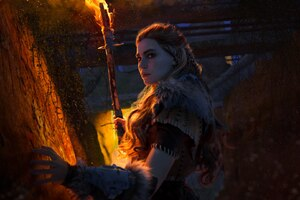 Aloy Horizon Zero Dawn Game Cosplay Wallpaper
