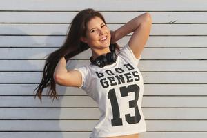 Amanda Cerny Smiling