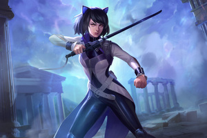 Amaterasu Smite Blake Belladonna 4k Wallpaper