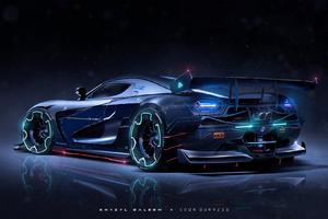 Amazing Sport Car Artwork