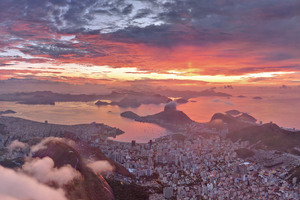 Amazing View Of Rio De Janeiro During Sunset