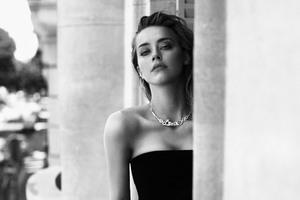 Amber Heard 4k Monochrome